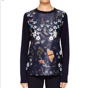 Ted baker Khlo Kyoto Gardens jacquard sweater 0=00